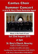 Cantus Choir poster